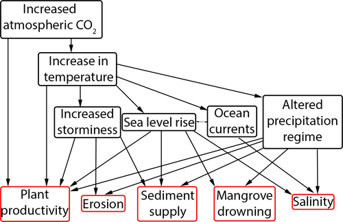 Impacts of climate change on mangrove ecosystems: a region