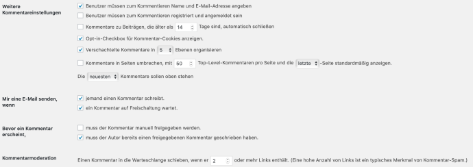 wordpress spam kommentare