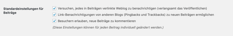 Bildschirmfoto 2019 01 11 um 17.40.38 1024x158 - WordPress Kommentare - Konfiguration, Strategie & Policy