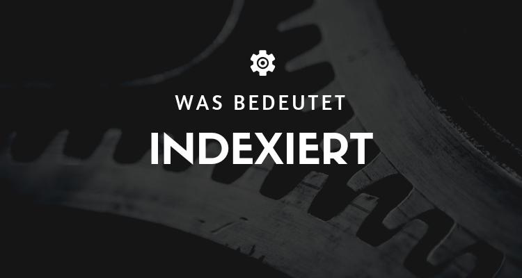 Was bedeutet - Indexiert