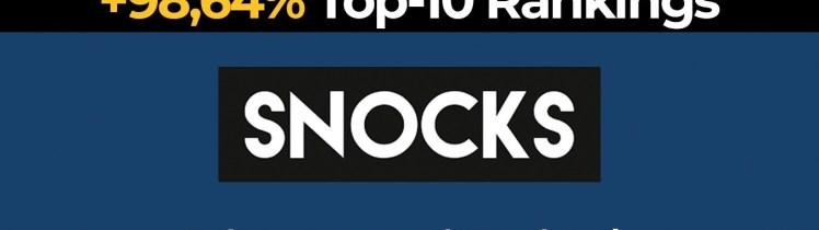 CaseStudySnocks1 1 - 98,64% Mehr Top-10 Rankings nach E-Commerce SEO | SNOCKS