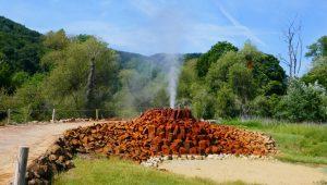 Geysir Ausbruch - Erst einmal kommt nur Gas