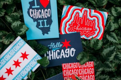 Chicago Style Postcard Set Close Up