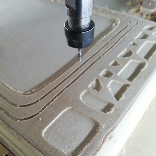 Cutting the pockets on the CNC