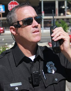 Police officer with body camera