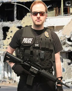 Swat officer with body camera