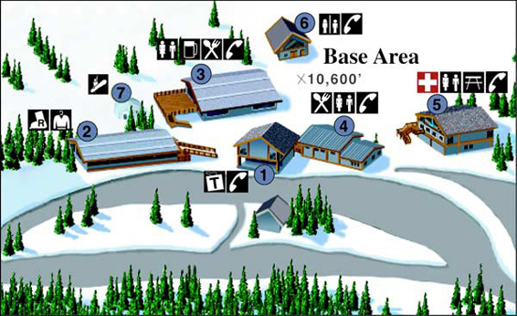 Wolf Creek base area map