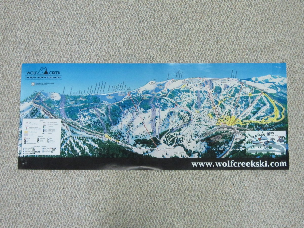 Wolf Creek Ski Area Map Poster Wolf Creek Ski Area