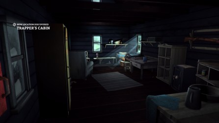 Trapper's Cabin interior