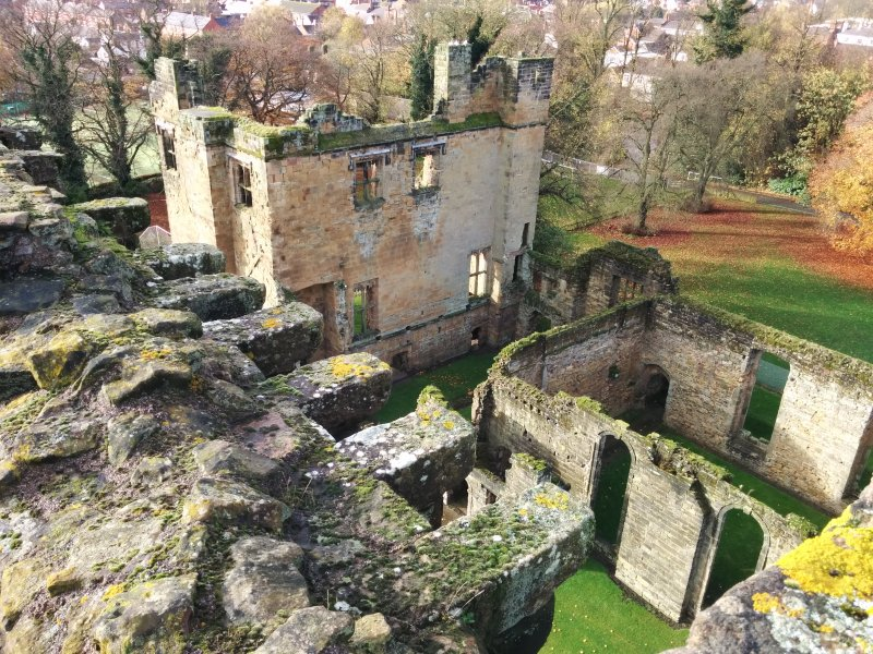The view from the top of a tower at Ashby Castle