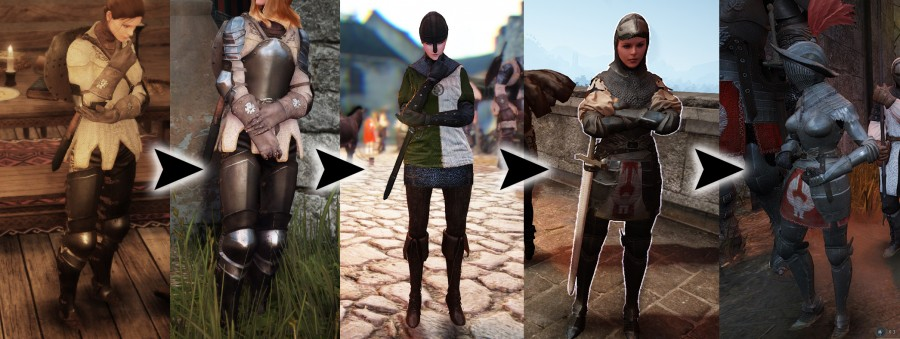 BDO female NPC armor