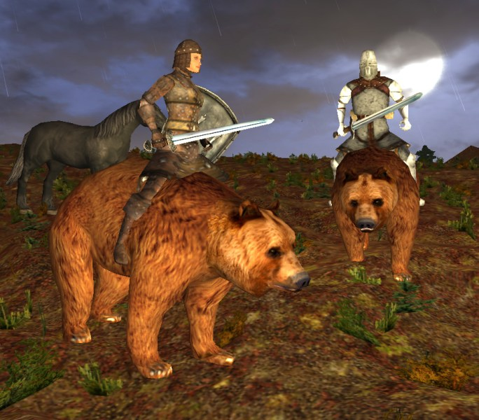 Bear riding