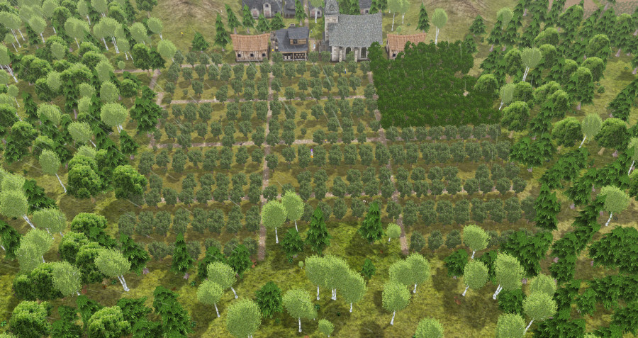And a few chestnut orchards in the upper right