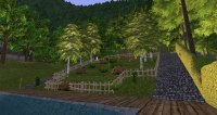 The sloped garden
