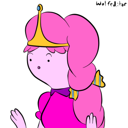 princess bubblegum hair draw