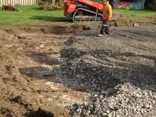 Spreading gravel 2