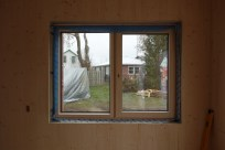 The kitchen window from the inside