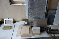 Stove parts ready for later reassembly