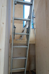 The landing allows easier access to the long window over the staircase