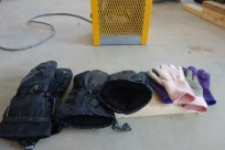 Having a heater means the crew can dry their gloves too!
