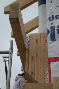 """The blocks have to be as deep as the insulation (over 11""""), and fitted with steel braces top and bottom"""