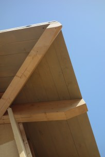 Detail of the roof overhang and rafters