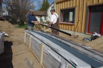 Unpacking the siding