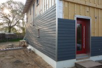 The siding looks great in the morning light