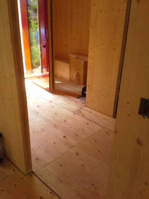 Subflooring in the entrance hall