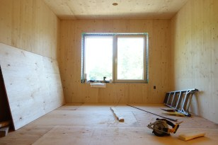 New subflooring in what will be the Japanese room