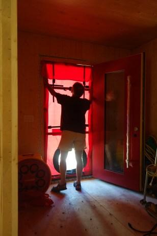 Sealing the front door opening