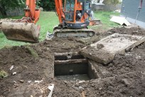 Uncovering the old septic