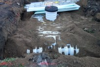 The cistern in place