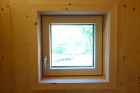 A fully-trimmed small window