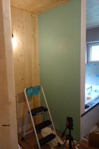 ...with paint that is almost the same as the drywall colour!