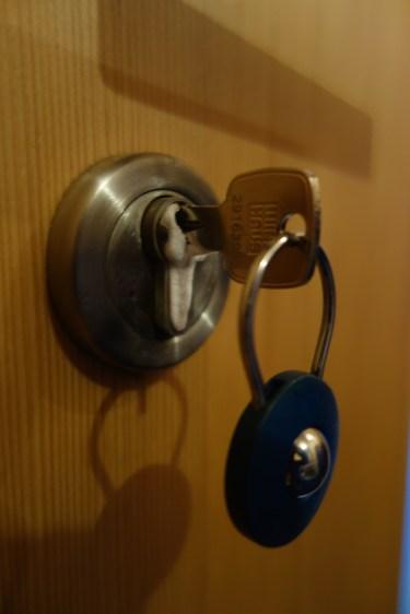 Ice on the front door lock
