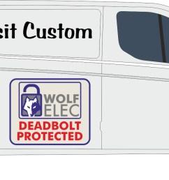 transit custom 2 bolt kit  [ 1763 x 704 Pixel ]