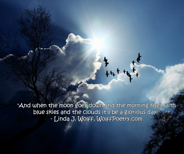 Image of glorious day - quote