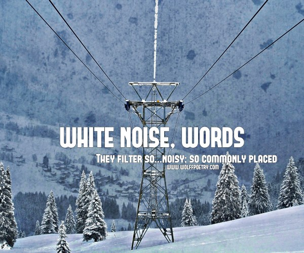 White Noise, Words Poetry