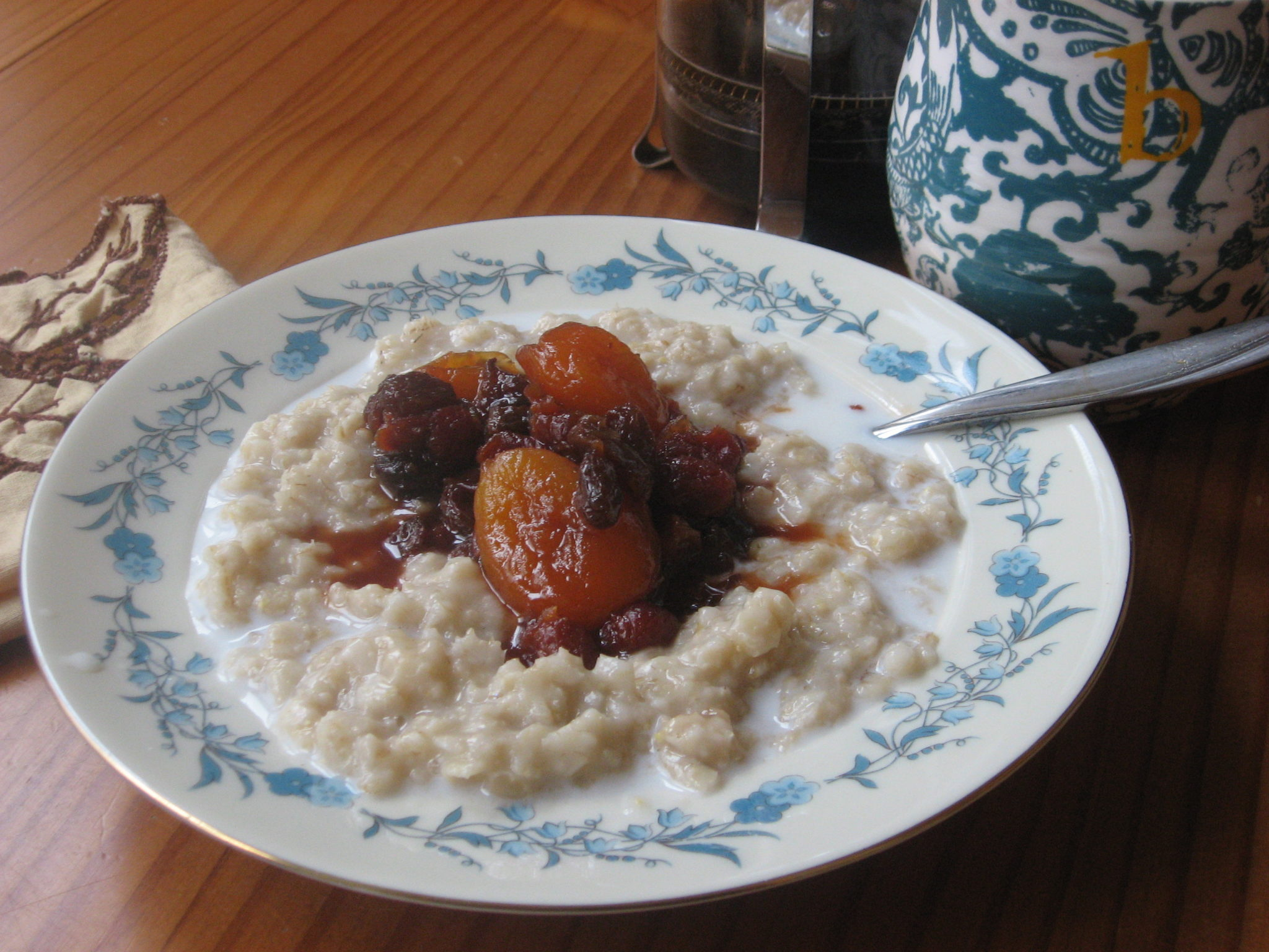 Oatmeal with Fruit Compot