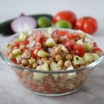 Cucumber chick pea salad