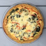 Veggie Quiche with Quinoa Crust