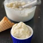 Scoop of homemade ice cream