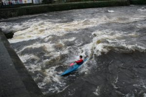 paddler in corrib river