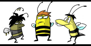 three busy bees