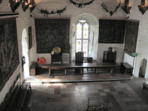 interior of the Bunratty Castle Great Hall