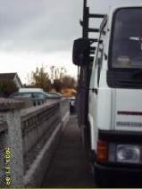 Lorry parked on footpath, no room for wheelchair