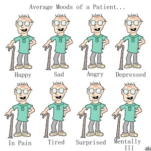 different moods of a patient
