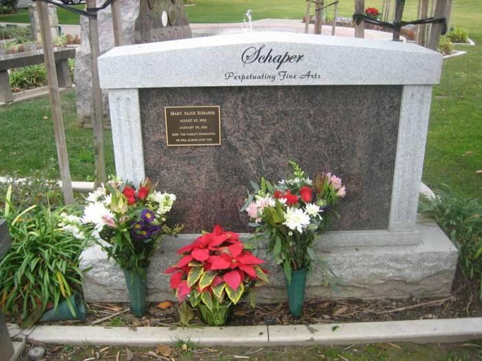 The Schaper Family Graveside Monument 2011