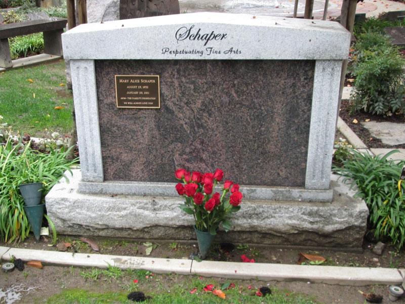 Memorial Grave Site Peter Schaper Family